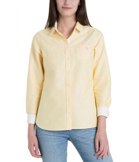 Imbracaminte Femei US Polo Assn Solid Pocket Oxford BANANA CREAM