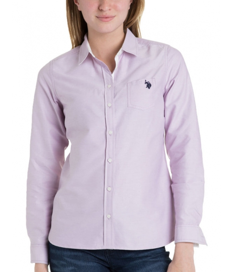 Imbracaminte Femei US Polo Assn Solid Pocket Oxford LAVENDER HERB