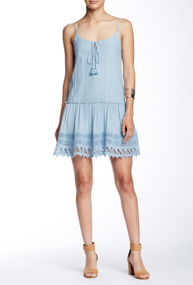 Imbracaminte Femei BE BOP Crochet Trim Pheobe Crepe Dress DENIM