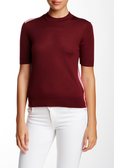 Imbracaminte Femei Marc by Marc Jacobs Superfine Merino Wool Mock Neck Sweater MISTY MERLOT MULTI