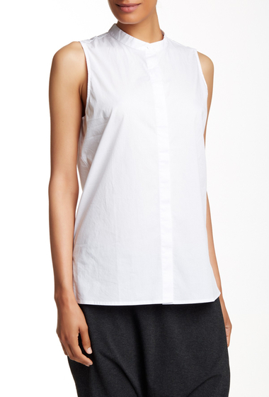 Imbracaminte Femei Eileen Fisher Sleeveless Lawn Shirt WHITE