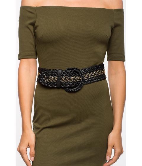 Accesorii Femei CheapChic Sonya Chain Accent Wide Stretch Belt Black