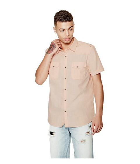 Imbracaminte Barbati GUESS Gershon Short-Sleeve Chambray Shirt stage pink