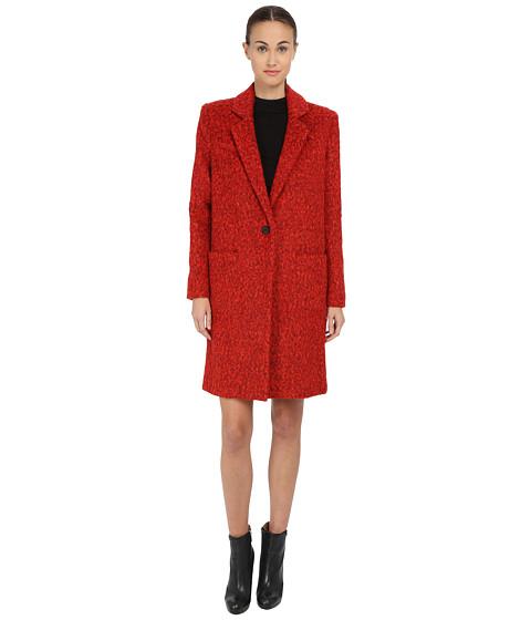 Imbracaminte Femei ZAC Zac Posen Julienne Classic Wool Coat Cosmic Crimson
