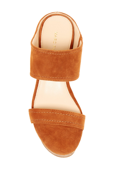 Incaltaminte Femei Marc Fisher Shelbee Cork Wedge Sandal modern cognac