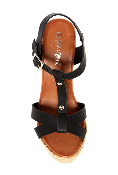 Incaltaminte Femei Nature Breeze Pati Wedge Sandal BLACK PU