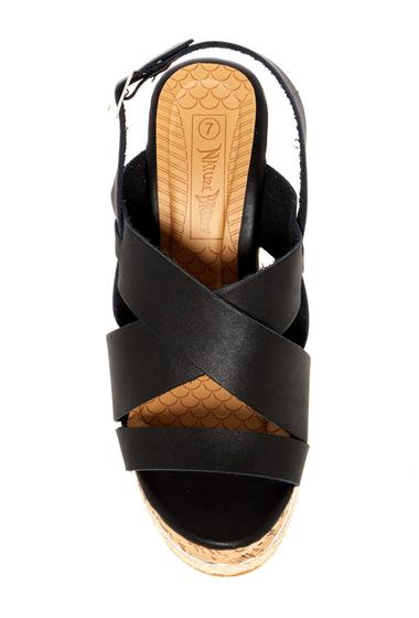 Incaltaminte Femei Nature Breeze Oris Wedge Sandal BLACK PU
