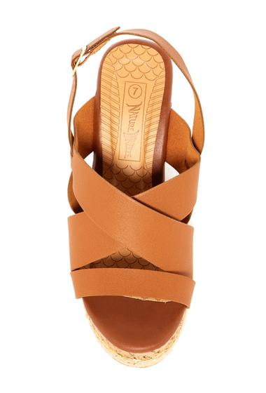Incaltaminte Femei Nature Breeze Oris Wedge Sandal TAN PU