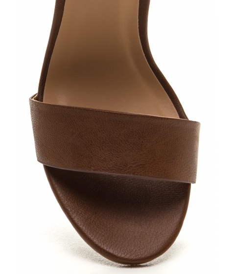 Incaltaminte Femei CheapChic On The Money Chunky Faux Leather Heels Chestnut
