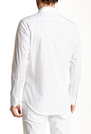 Imbracaminte Barbati 14th Union Trim Fit Printed Cutaway Shirt WHITE