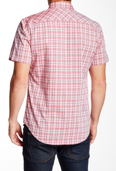 Imbracaminte Barbati Zachary Prell Veith Short Sleeve Trim Fit Shirt PINK