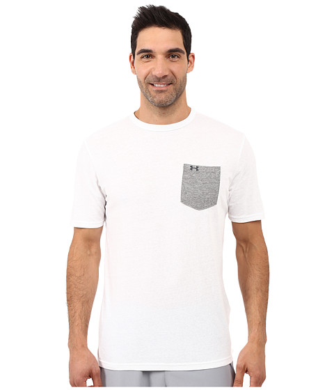 Imbracaminte Barbati Under Armour UA Tri-Blend Pocket Tee WhiteGreyhound HeatherSteel