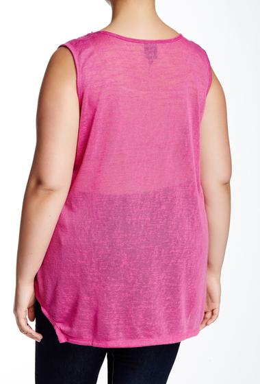 Imbracaminte Femei Bobeau Eyelet Knit Tank Plus Size BERRY