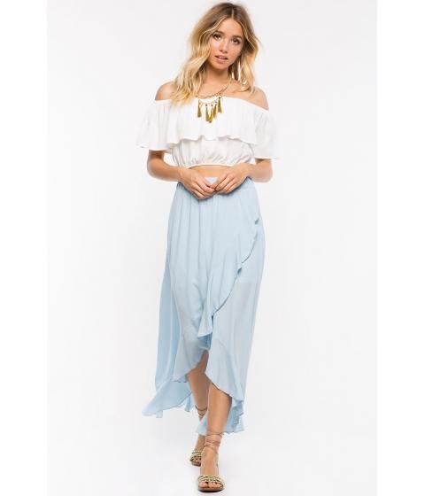 Imbracaminte Femei CheapChic Ruffle Maxi Skirt Pst Blue