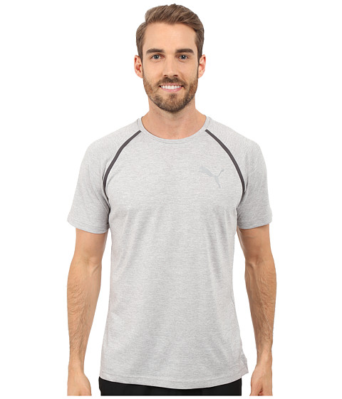 Imbracaminte Barbati PUMA Bonded Tech Short Sleeve Tee Light Gray Heather