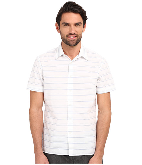 Imbracaminte Barbati Perry Ellis Horizontal Textured Stripe Shirt Bright White