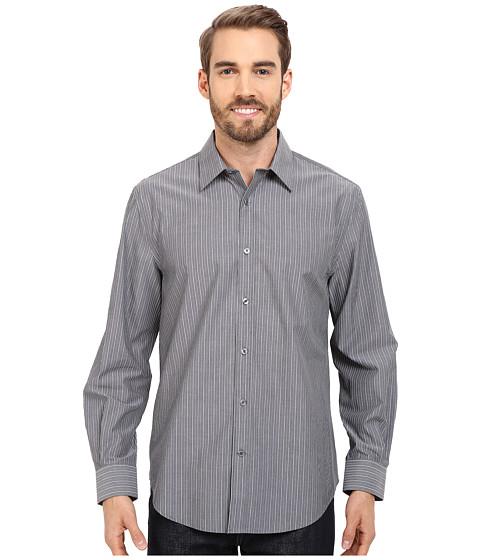 Imbracaminte Barbati Perry Ellis Non-Iron Chambray Stripe Shirt Eclipse