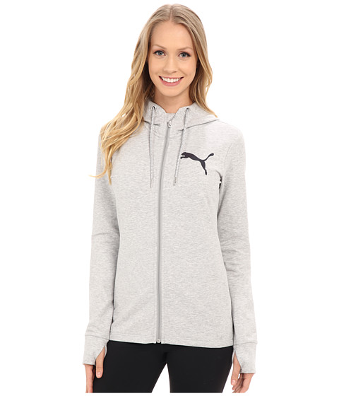 Imbracaminte Femei PUMA Active Track Jacket Light Gray Heather