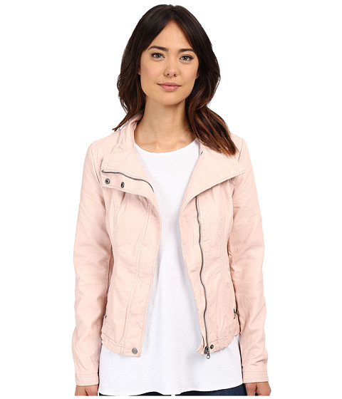Imbracaminte Femei Brigitte Bailey Doralee Faux Leather Jacket Pure Blush