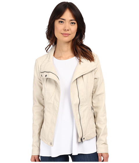 Imbracaminte Femei Brigitte Bailey Doralee Faux Leather Jacket Pebble