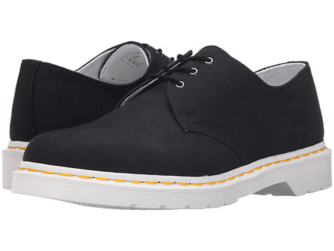 Incaltaminte Barbati Dr Martens Lester 3-Eye Shoe Canvas Black Canvas