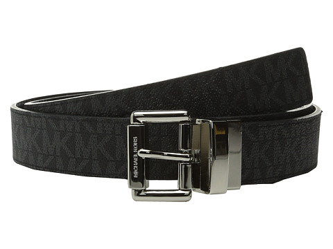 Accesorii Femei Michael Kors 32mm Reversible MK PVC Logo to Croco Belt Black LogoBlack