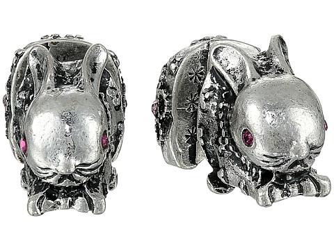 Bijuterii Femei Betsey Johnson BJ's Menagerie Silver Bunny Front Back Stud Earrings Crystal