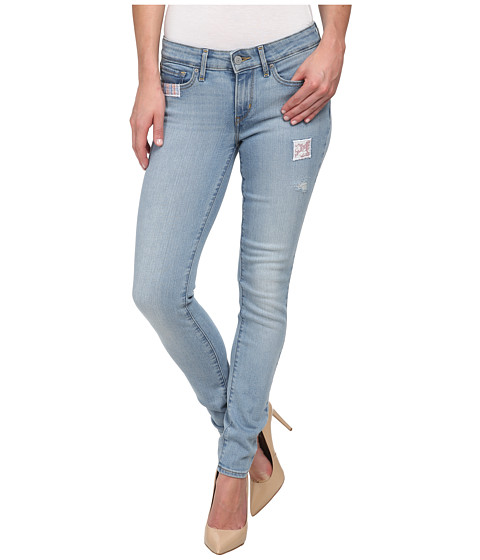 Imbracaminte Femei Levi's 711trade Skinny Destructed Light
