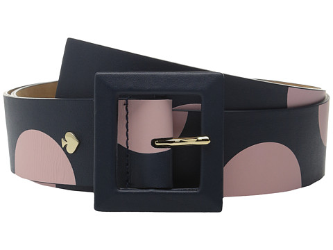 Accesorii Femei Kate Spade New York Nappa Screen Printed Two-Tone Dot Belt Rich NavyPastry Pink