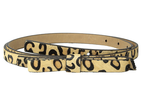 Accesorii Femei Kate Spade New York Haircalf Panel Bow Belt Natural LeopardPale Gold