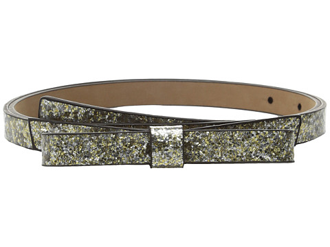 Accesorii Femei Kate Spade New York Glitter Classic Bow Belt SilverGoldRose