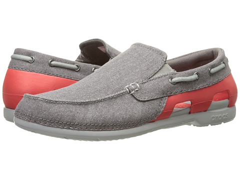Incaltaminte Barbati Crocs Beach Line Canvas Slip-On GraphiteFlame