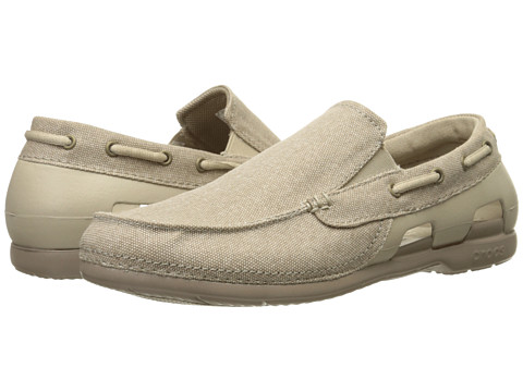 Incaltaminte Barbati Crocs Beach Line Canvas Slip-On CobblestoneTumbleweed
