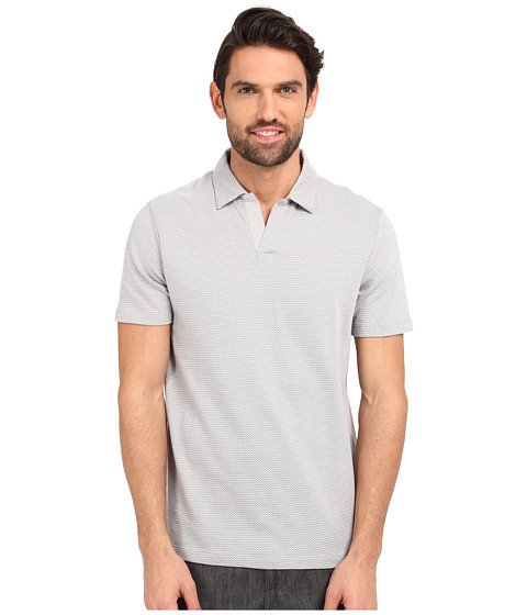 Imbracaminte Barbati Perry Ellis Open Collar Jacquard Polo Alloy