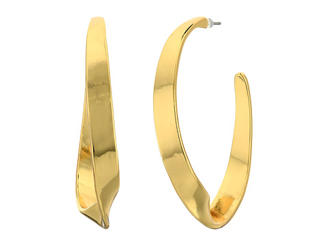 Bijuterii Femei LAUREN Ralph Lauren Retro Links Large Twisted Hoop Earrings Gold