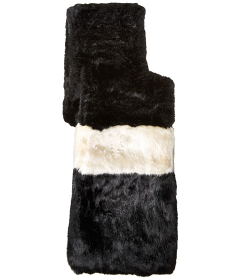Accesorii Femei Kate Spade New York Faux Rabbit Fur Stole BlackCream