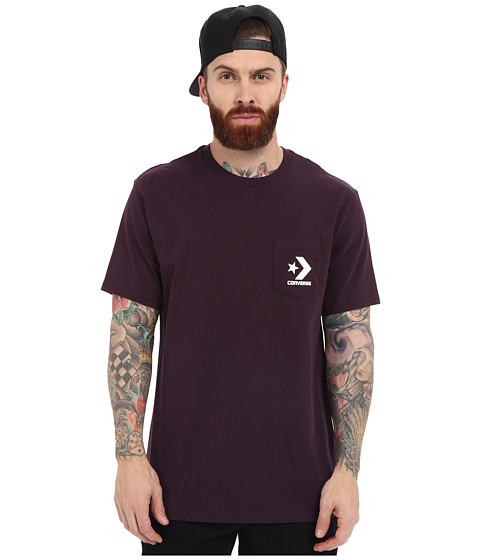 Imbracaminte Barbati Converse Cons Pocket Tee Black Cherry