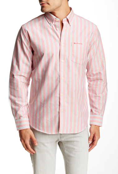 Imbracaminte Barbati Ben Sherman Easy Fit Oxford Stripe Shirt 763DESERT