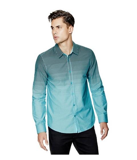 Imbracaminte Barbati GUESS Cambron Long-Sleeve Poplin Shirt river blue