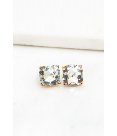 Bijuterii Femei CheapChic Prong Accented Rhinestone Stud Earring Met Gold