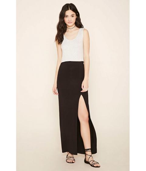 Imbracaminte Femei Forever21 Side-Slit Maxi Skirt Black