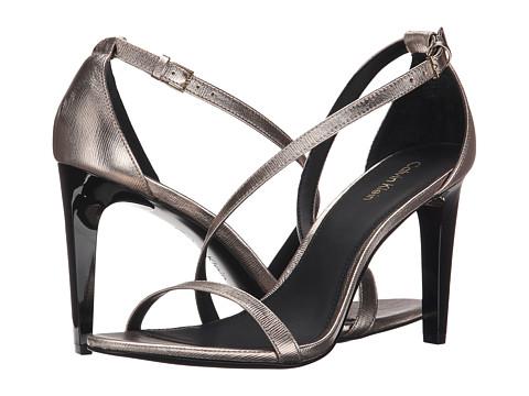 Incaltaminte Femei Calvin Klein Narella Soft Platinum Metallic Birch Leather