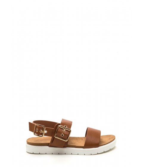 Incaltaminte Femei CheapChic All Day Event Strappy Flatform Sandals Whisky
