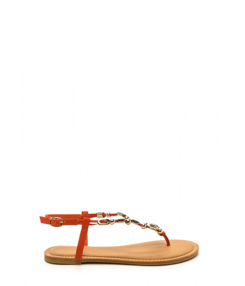 Incaltaminte Femei CheapChic Fierce Fashionista Embellished Sandals Orange