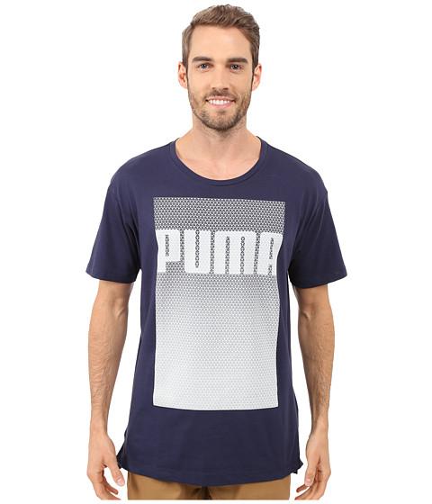 Imbracaminte Barbati PUMA Evo Longer Line Logo T-Shirt Peacoat