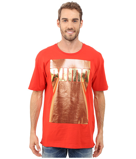 Imbracaminte Barbati PUMA Evo Longer Line Logo T-Shirt Puma Red