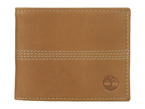 Genti Barbati Timberland Slimfold Wallet with Key Fob Gift Set Tan