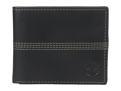 Genti Barbati Timberland Slimfold Wallet with Key Fob Gift Set Black