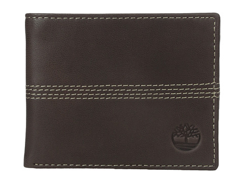 Genti Barbati Timberland Slimfold Wallet with Key Fob Gift Set Brown