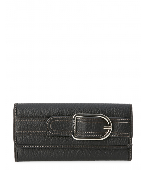 Genti Femei Nine West Black Bristo Flap Wallet Black